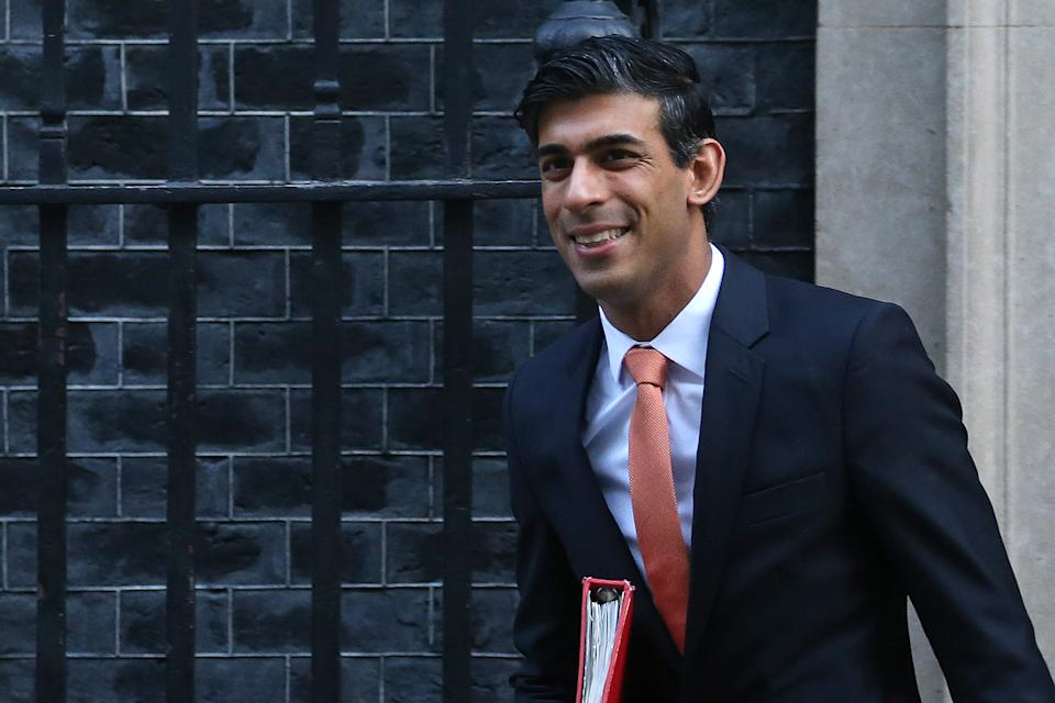 Britain's Chief Secretary to the Treasury Rishi Sunak leaves from 10 Downing Street in central London on February 6, 2020, after attending a meeting of the cabinet. (Photo by ISABEL INFANTES / AFP) (Photo by ISABEL INFANTES/AFP via Getty Images)