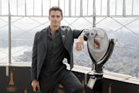 <p><em>Queer Eye</em>'s Antoni Porowski visits the top of the Empire State Building to mark Hunger Action Month in N.Y.C. on Sept. 22.</p>