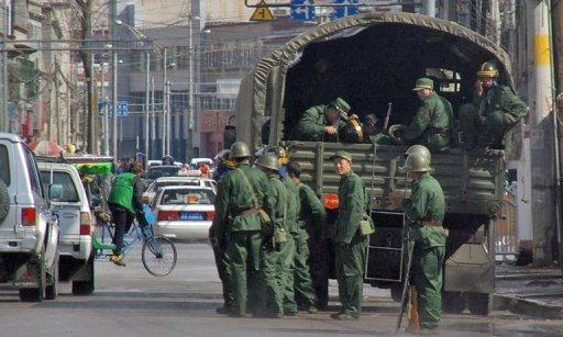 Hundreds of people have been detained in Lhasa, Tibet, a US-based broadcaster has reported