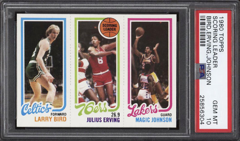 Larry Bird Magic Johnson Rookie Cards Sells For Historical Price