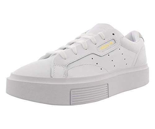 """<p><strong>adidas Originals</strong></p><p>amazon.com</p><p><strong>$54.00</strong></p><p><a href=""""https://www.amazon.com/dp/B07KWV4RP1?tag=syn-yahoo-20&ascsubtag=%5Bartid%7C10065.g.36210019%5Bsrc%7Cyahoo-us"""" rel=""""nofollow noopener"""" target=""""_blank"""" data-ylk=""""slk:Shop Now"""" class=""""link rapid-noclick-resp"""">Shop Now</a></p><p>Everyone needs a pair of crisp white sneakers in their closet. With a leather exterior and supportive construction, this pair strikes a happy medium between form and function.</p>"""