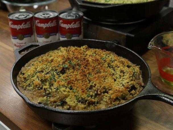 PHOTO: Creamy Brussels Sprouts and Sausage Casserole with Parmesan Herb Crust (ABC)