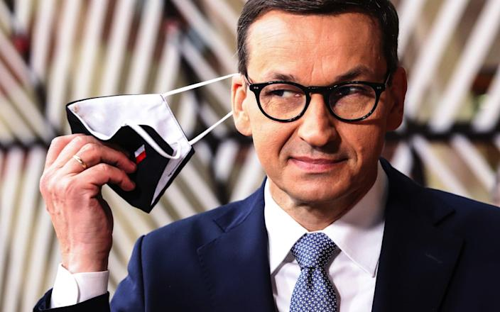 Poland's Prime Minister Mateusz Morawiecki said summit talks with Russia should only be held if Moscow abandoned aggressive policies. - Valeria Mongelli/Bloomberg