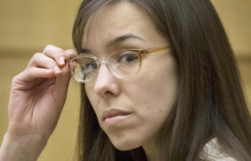 Defendant Jodi Arias sits in the courtroom during her trial at Maricopa County Superior Court in Phoenix on Wednesday, May 1, 2013. Arias is charged with first-degree murder in the stabbing and shooting death of Travis Alexander, 30, in his suburban Phoenix home in June 2008. (AP Photo/The Arizona Republic, Mark Henle, Pool)