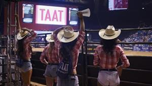 Standard digital sponsorship insignia for the TAAT™ brand was displayed throughout this weekend's PBR events in Las Vegas, NV