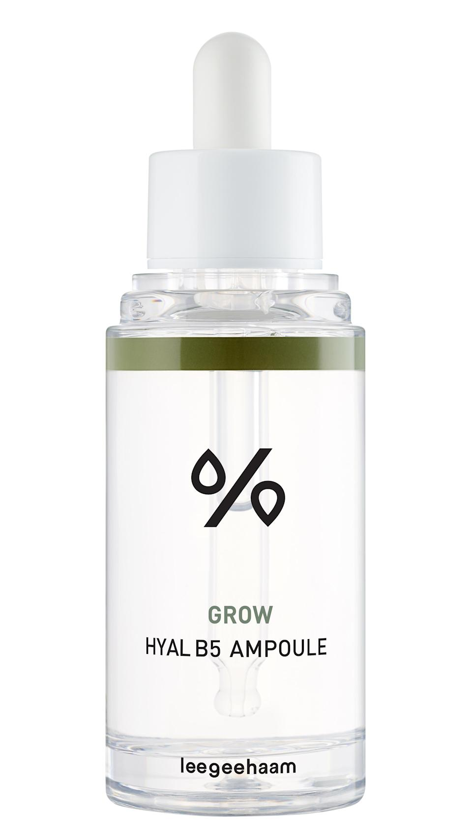 """<strong>The Brightener:</strong> Niacinamide <br><br>Dr. Moy likes niacinamide (also known as vitamin B3) for its ability to increase DNA repair when taken orally and reduce the appearance of dark spots. Formulators like the ingredient used topically for its multi-tasking abilities, as it can address uneven texture in addition to dullness. Niacinamide stars as the main ingredient in this ampoule, which also features five types of hyaluronic acid to quench dry skin.<br><br><strong>Leegeehaam</strong> Grow Hyal B5 Ampoule, $, available at <a href=""""https://go.skimresources.com/?id=30283X879131&url=https%3A%2F%2Fwww.glowrecipe.com%2Fproducts%2Fleegeehaam-grow-hyal-b5-ampoule"""" rel=""""nofollow noopener"""" target=""""_blank"""" data-ylk=""""slk:Glow Recipe"""" class=""""link rapid-noclick-resp"""">Glow Recipe</a><br><br>"""