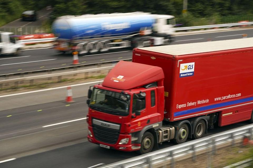 An HGV lorry on the M4 motorway near Datchet, Berkshire (PA) (PA Wire)