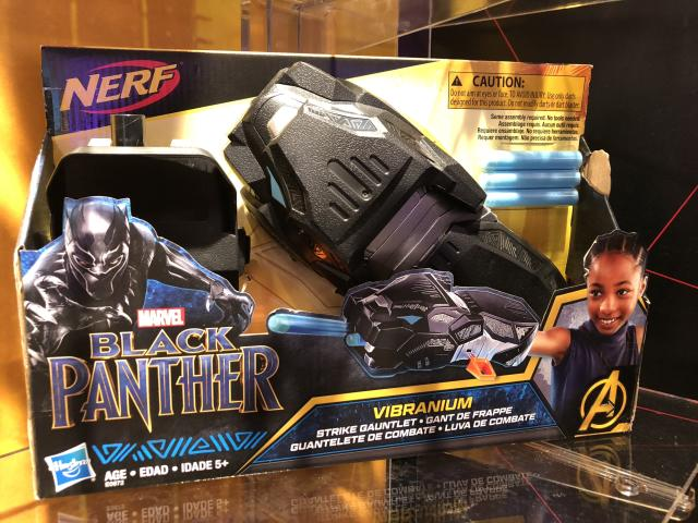 "<p>Strike back at Wakanda's enemies with this dart-firing gauntlet, made in the style of the <a href=""https://www.yahoo.com/entertainment/black-panther-breakout-shuri-crowned-best-disney-princess-social-media-171338599.html"" data-ylk=""slk:No. 1 Disney princess"" class=""link rapid-noclick-resp"">No. 1 Disney princess</a> — and the Q to Black Panther's 007 — Shuri. (Photo: Adam Lance Garcia) </p>"