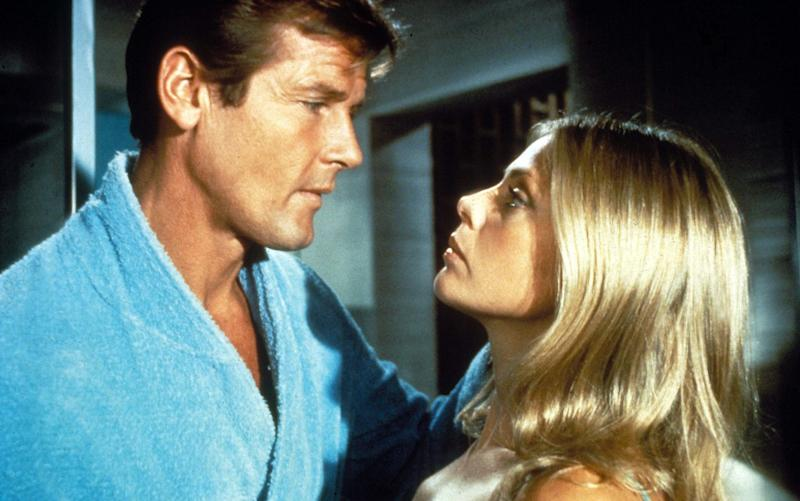 Roger Moore and Britt Ekland in The Man With The Golden Gun - Credit:  Rex Features