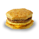 <p>Sausage, a seasoned egg omelette and processed cheddar cheese on a homestyle biscuit contains 500 calories, 33 grams of fat and 16 grams of saturated fat — nearly an entire day's worth of saturated fat in one sandwich. <br> — Calories: 500 <br> — Fat: 33 g (Saturated Fat 16 g) <br> — Sodium: 1,030 mg <br> — Carbohydrates: 33 g <br> — Sugar: 4 g <br> — Source/Photo: Tim Hortons </p>