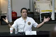New York Governor Andrew Cuomo, pictured on March 27, 2020, said infection rates would have to decrease more significantly before the state could reopen