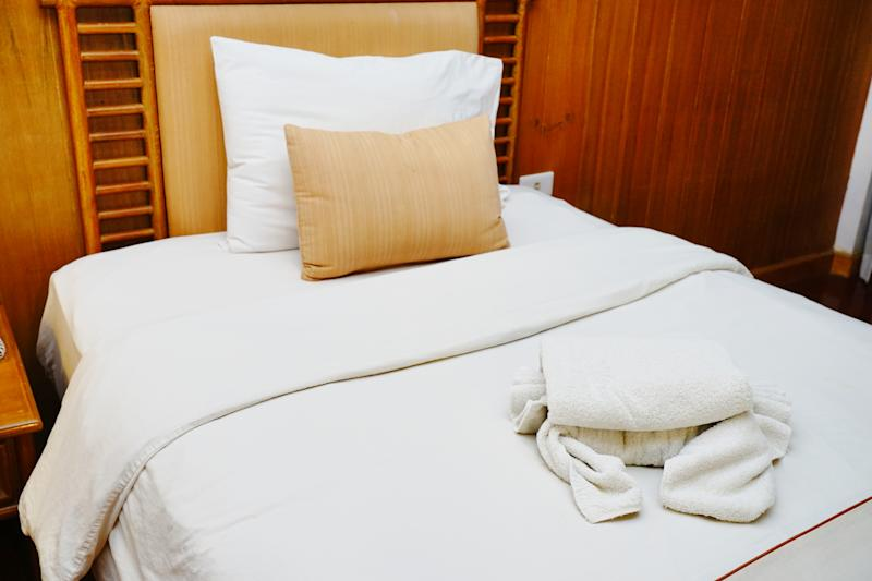 Bedding of bedroom in hotel