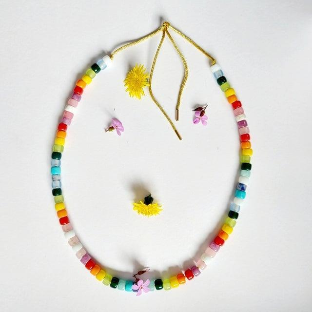 <p>I have been all about rainbow jewelry lately, but I think this <span>Maison Archives Semi Precious Stone Necklace</span> ($113) takes the cake - it's so cute! The design is inspired by the summer of '69.</p>