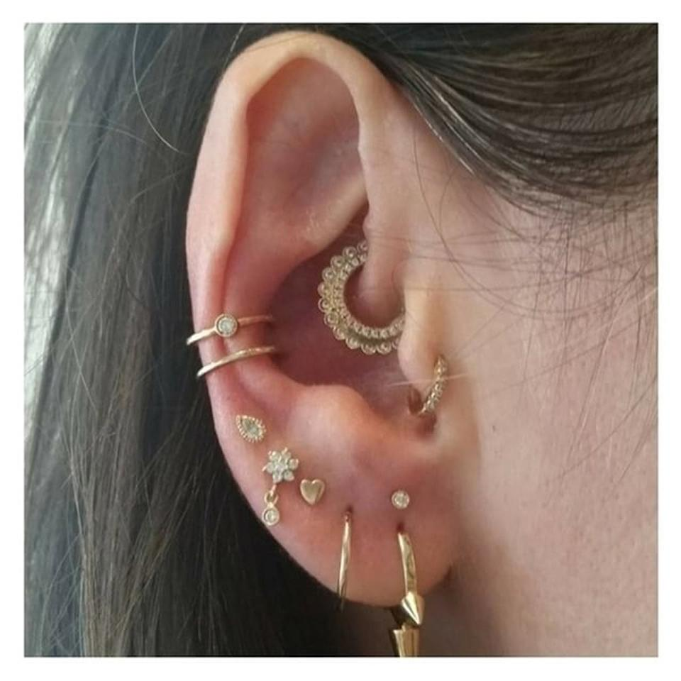 For New Yorkers in the know, Maria Tash is <em>the</em> place to go for fine jewelry and flawless piercings. As you can see from this golden constellation, they <em>really</em> know what they're doing.