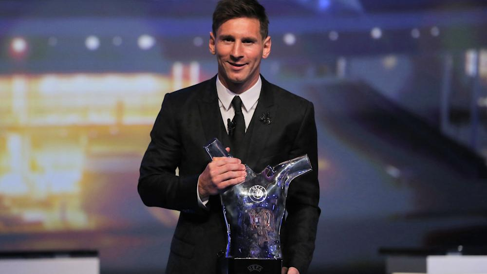 Lionel Messi UEFA Best Player in Europe Award