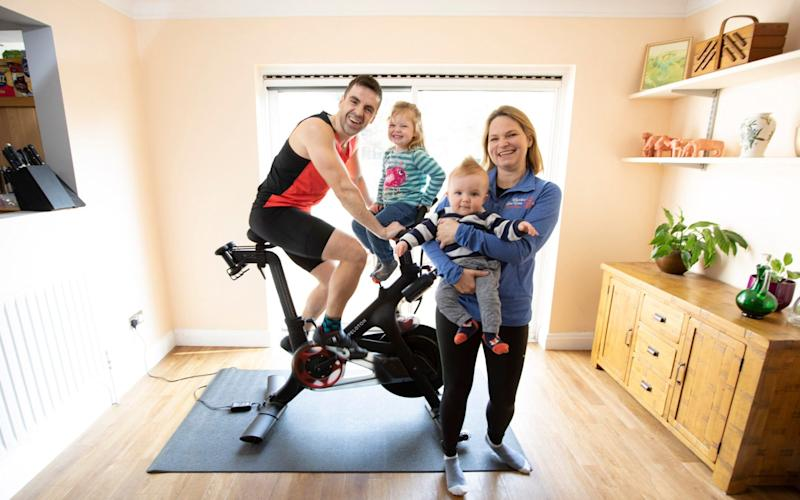 Fun for (nearly) all the family - the Peloton bike has broad appeal in the Hough household - Rii Schroer