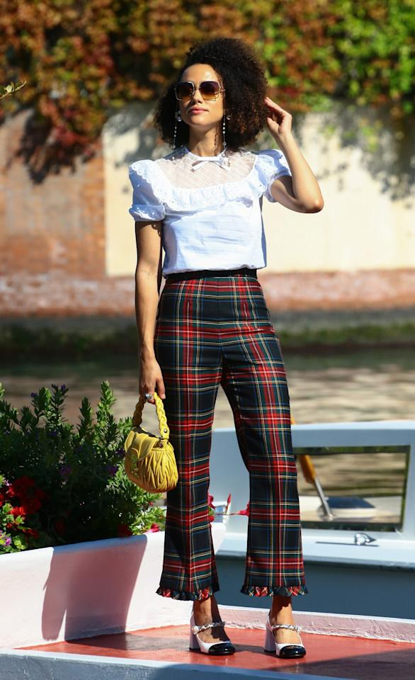 <p>The<em>Game of Thrones</em>actress looked super chic arriving at the 2020 Venice Film Festival.</p>
