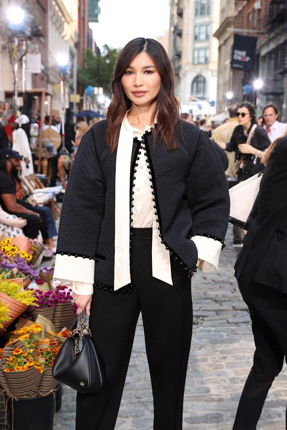 Gemma Chan attends the Tory Burch Spring/Summer 2022 Collection (Getty Images for Tory Burch)