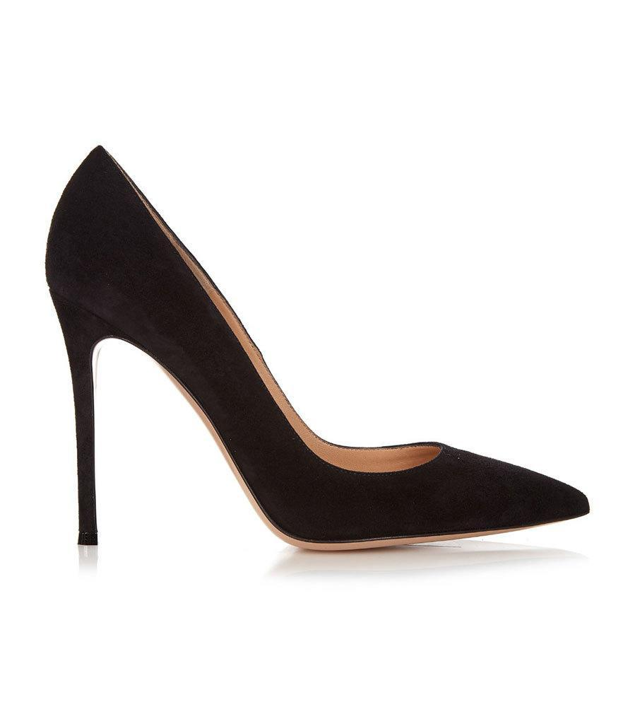 """<p>Gianvito Rossi Suede Pumps, $633, <a href=""""http://www.matchesfashion.com/us/products/Gianvito-Rossi-Gianvito-suede-pumps-1015436#"""" rel=""""nofollow noopener"""" target=""""_blank"""" data-ylk=""""slk:matchesfashion.com"""" class=""""link rapid-noclick-resp"""">matchesfashion.com</a></p>"""