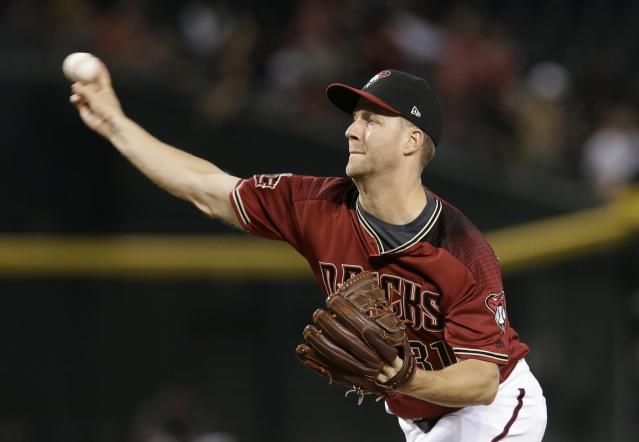 Arizona Diamondbacks relief pitcher Brad Boxberger is trying to find his role in September. (AP)