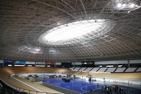 A general view shows Izu Velodrome for Tokyo 2020 Olympic games in Izu, Shizuoka prefecture, central Japan, September 6, 2018. REUTERS/Pawel Kopczynski
