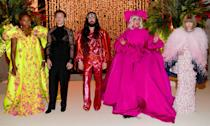 <p><strong>The theme: </strong>Camp: Notes on Fashion </p> <p><strong>The co-chairs: </strong>Serena Williams, Harry Styles, Alessandro Michele, Lady Gaga and Anna Wintour</p>