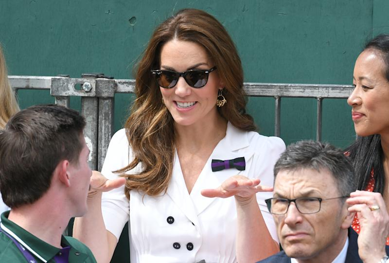 Carole Middleton is wonderful in white on centre court at Wimbledon