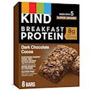 """<p><strong>KIND</strong></p><p>amazon.com</p><p><strong>$23.16</strong></p><p><a href=""""https://www.amazon.com/dp/B0748DLKFP?tag=syn-yahoo-20&ascsubtag=%5Bartid%7C2143.g.36887934%5Bsrc%7Cyahoo-us"""" rel=""""nofollow noopener"""" target=""""_blank"""" data-ylk=""""slk:Shop Now"""" class=""""link rapid-noclick-resp"""">Shop Now</a></p><p>Start your morning off right with a KIND Dark Chocolate Breakfast Protein Bar. Plus, you'll save 23% on this pack of eight.</p>"""