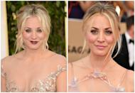 <p>Kaley has never really gone <em>too </em>over-the-top with her makeup, but there's a reason she often plays the girl next door on TV: she doesn't need rimmed liner and dark lips to look A+.</p>