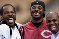 """<p>This was inescapable thanks to the late-1999 Budweiser ad, which starred Paul Williams and Fred Thomas (shown here with Ken Griffey Jr in 2000). Like """"jiggy,"""" this was also immediately overused. </p>"""