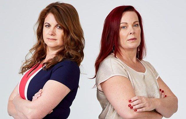 Nicole Prince (left) and teammate Fiona Taylor (right) in a publicity shot for the series.