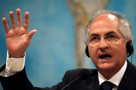 FILE PHOTO: Caracas Mayor Antonio Ledezma talks during a hearing at the Brazilian Senate Foreign Relations Commission at the National Congress in Brasilia, Brazil October 27, 2009. REUTERS/Roberto Jayme/File Photo