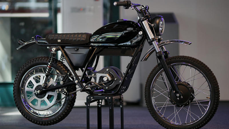 The Mokka Cycles electric Garelli KL50 conversion motorcycle