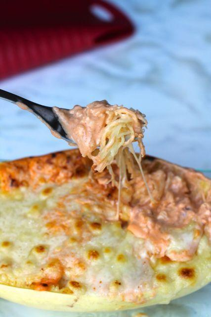 "<p>There's nothing a little buffalo sauce can't improve.</p><p>Get the recipe from <a href=""http://www.thedomesticblonde.com/2014/10/10/buffalo-chicken-spaghetti-squash/"" rel=""nofollow noopener"" target=""_blank"" data-ylk=""slk:The Domestic Blonde"" class=""link rapid-noclick-resp"">The Domestic Blonde</a>.</p>"