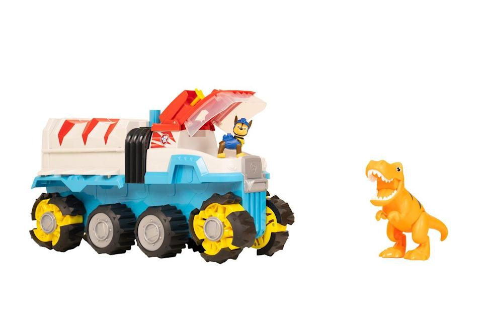 """<p>Dino Patroller is the first-ever motorised PAW Patrol team vehicle! With room for all six pups it features oversized wheels, a projectile launcher and an exclusive Chase and T-Rex dinosaur action figure.</p><p><a class=""""link rapid-noclick-resp"""" href=""""https://go.redirectingat.com?id=127X1599956&url=https%3A%2F%2Fwww.argos.co.uk%2Fproduct%2F8897590&sref=https%3A%2F%2Fwww.housebeautiful.com%2Fuk%2Flifestyle%2Fshopping%2Fg33533336%2Fargos-christmas-toys-2020%2F"""" rel=""""nofollow noopener"""" target=""""_blank"""" data-ylk=""""slk:BUY NOW VIA ARGOS"""">BUY NOW VIA ARGOS</a></p>"""