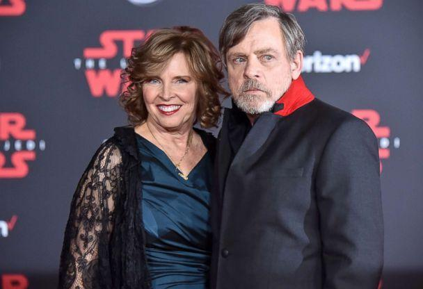 PHOTO: Mark Hamill and Marilou Hamill attend the premiere of 'Star Wars: The Last Jedi' at the Shrine Auditorium, Dec. 9, 2017, in Los Angeles. (Jeff Kravitz/FilmMagic/Getty Images)