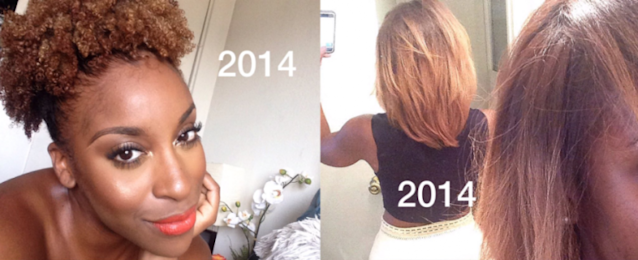 Beauty blogger gives a lesson in hair shrinkage. (Photo: Jackie Aina via Twitter)