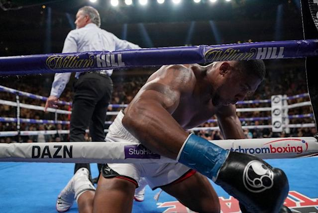 The loss will be devastating for the career of Joshua who was looking past Ruiz for a superfight unification showdown with WBC champion Deontay Wilder (AFP Photo/TIMOTHY A. CLARY)