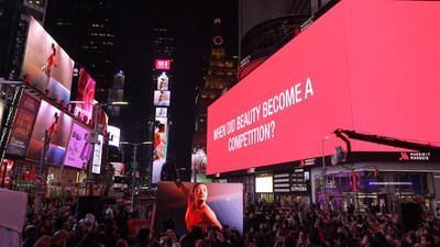 """SK-II and Simone Biles Take Over Times Square To Announce """"VS"""" Series Launch For Beauty Is #NOCOMPETITION"""