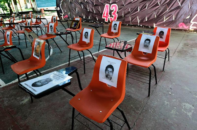 In September 2014, 43 students of a teaching college in Mexico disappeared on the way to a protest, with prosecutors saying police attacked them and handed them over to a drug cartel (AFP Photo/Alfredo Estrella)
