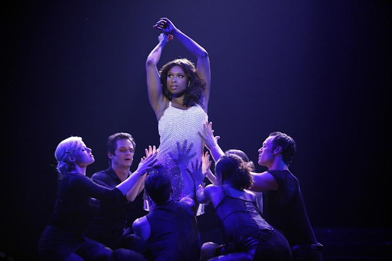 "This publicity image released by NBC shows actress Jennifer Hudson as Veronica Moore in a scene from the second season of ""Smash."" ""Smash,"" set in the world of New York theater, stars Debra Messing, Christian Borle and Angelica Huston. Guest stars this season include Jennifer Hudson. (AP Photo/NBC, Will Hart)"