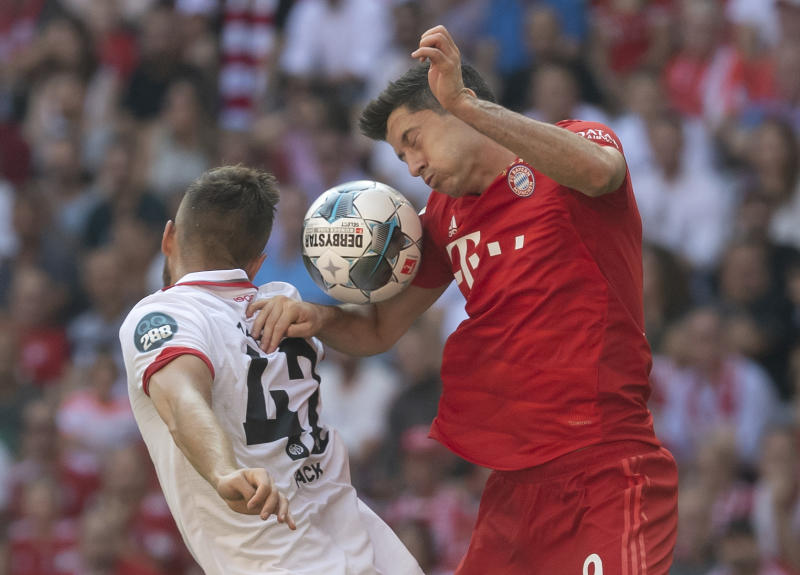 1st Bundesliga win for Union Berlin; Bayern routs Mainz 6-1