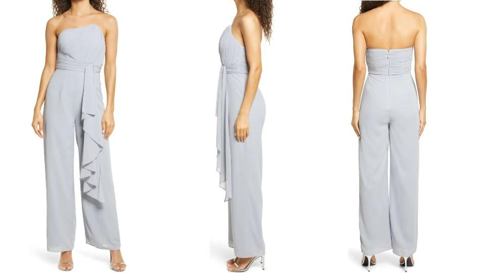 Lavish Alice Strapless Ruffle Jumpsuit - Nordstrom, $60 (originally $150)