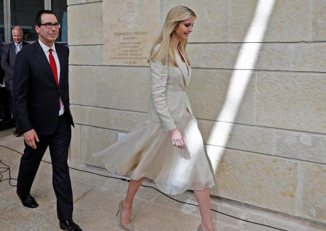 Ivanka Trump, who is in Israel to mark the opening of the U.S. embassy in Jerusalem, received a blessing from a controversial rabbi. (Photo: Getty Images)