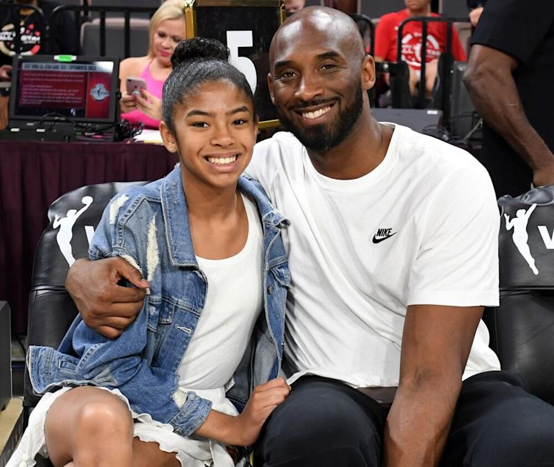 Kobe Bryant (R) and daughter Gianna | Ethan Miller/Getty Images