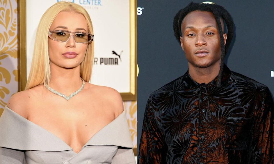 Yesterday, singer Iggy Azalea said she's dating NFL player DeAndre Hopkins. Today, she says she's not. (Photos: Getty Images)