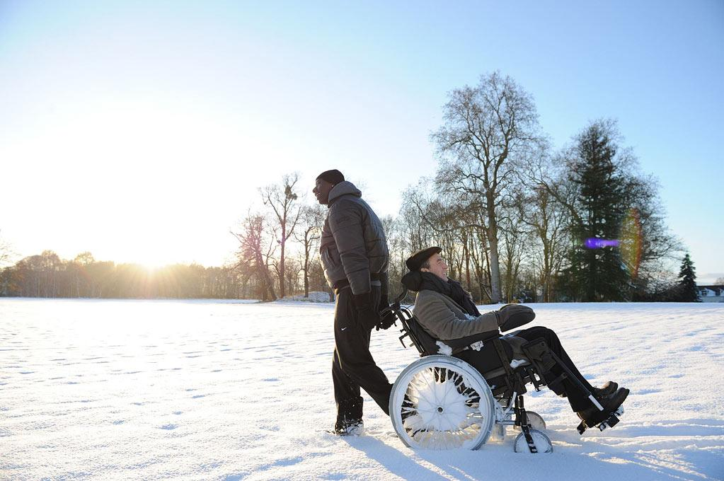 """""""<a href=""""http://movies.yahoo.com/movie/the-intouchables/"""">The Intouchables</a>"""" (May 25): Based on a true story, this French crowd pleaser pairs a rich quadriplegic (Francois Cluzet) and his African-born, ghetto-raised caregiver (Cesar winner Omar Sy) in a bromantic story of friendship, sex, and paragliding. Prepare to be uplifted!"""