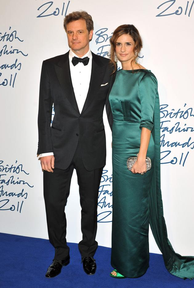Livia Giugliolli, what a gorgeous green gown. And you win our best accessory award for that thing on your arm (hello, Colin Firth.)