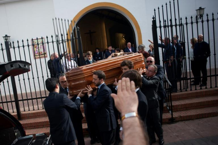 "Mourners at Molina's funeral sang the ""Cara al sol"" anthem of the Spanish Phalanx fascist party"
