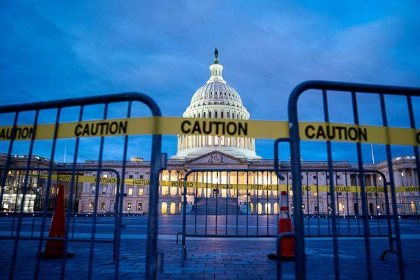 PHOTO: The U.S. Capitol is pictured on the first morning of a partial government shutdown in Washington, D.C., Dec. 22, 2018. (Jim Lo Scalzo/EPA via Shutterstock)